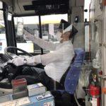 運転席に分会独自の飛沫防止プレートを試作、アイランドシティ分会